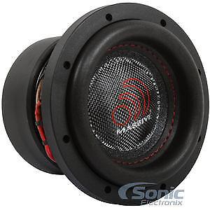 "Massive Audio HIPPO XL 64 600 Watt 6.0/"" Inches Dual 4 Ohm Car Subwoofer Open Box"