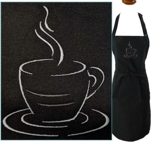 Cup Of Joe Java Coffee Mug Tea Monogram Apron Black Adj Adult Large Barista Gift