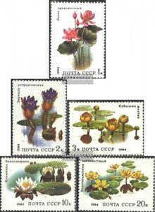 Postfrisch 1984 Wasserpflanzen Strengthening Sinews And Bones Diligent Sowjet-union 5381-5385 kompl.ausg.