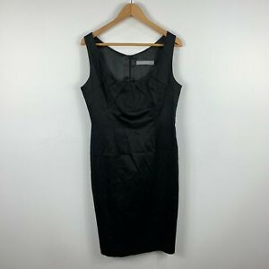 Anthea Crawford Womens Dress Size 12 Black A-Line Sleeveless Zip Closure