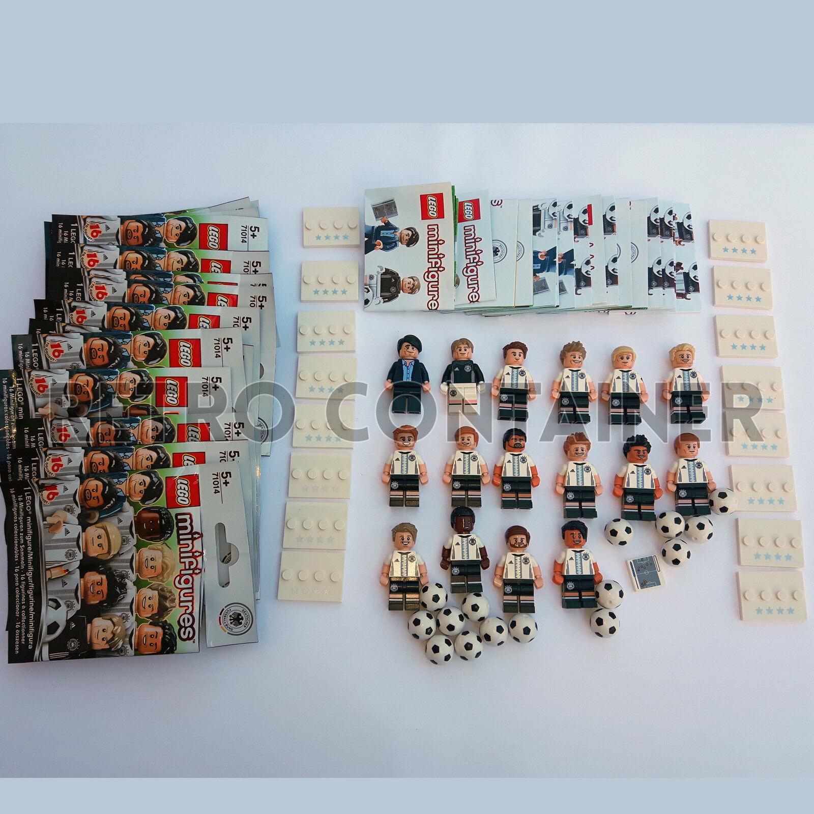 LEGO Minifigures 71014 Soccer Football German Team DFB 100% Complete Manschaft
