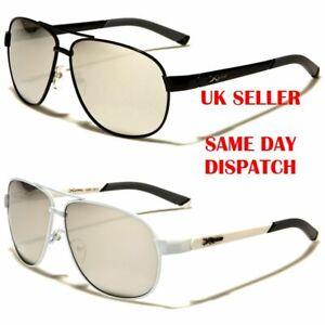 fc46f99e77305 New Xloop Pilot Mirrored Brow Bar Designer Mens Womens Sunglasses ...
