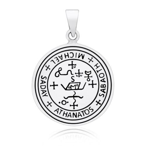 925 Sterling Silver Sigil of Archangel Saint Michael Protection Talisman Pendant