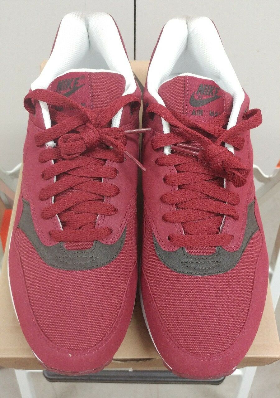 DS NIB Nike Air Max 1 Team Red Velvet Brown Comfortable The latest discount shoes for men and women