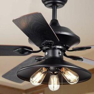 Modern Farmhouse Ceiling Fan Light Fixture Rustic Chandelier Lighting Pull Chain 786301939682 Ebay