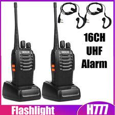 2PCS Retevis H777 Walkie Talkie 16CH CTCSS//DCS Two Way RadioWith Headphones BP