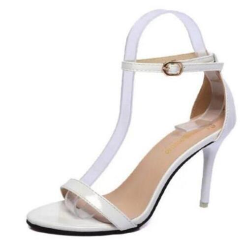 Femmes d/'été Talons Hauts Stiletto Boucle Lanière Soirée Sandales Bout Ouvert Chaussures Taille