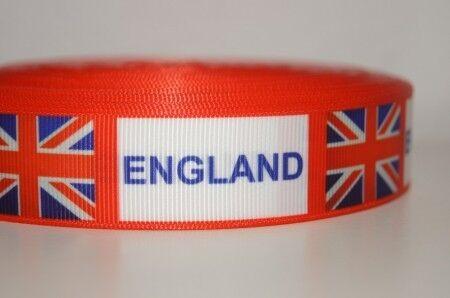 Galon 2136 Coupe du Monde Angleterre WebBand 25 mm de large ruban