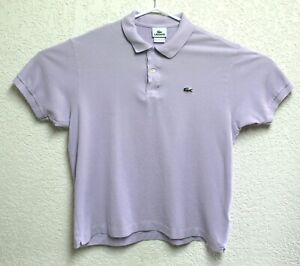 LACOSTE-Mens-Devanlay-Purple-Short-Sleeve-Polo-Shirt-Size-7-XL-EUC