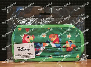 Disney Parks Exclusive Tiki Birds Adult Face Mask Size LARGE Brand New sealed