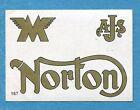 MOTO 2000 - Panini 1972 -Figurina-Sticker n. 167 - NORTON -Rec