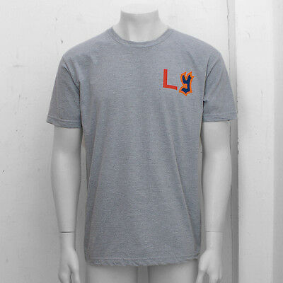 NEW Mens Ebbets Field Flannels Grey Los York Print T Shirt Top GENUINE RRP: £45