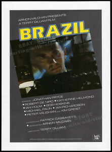 BRAZIL-Original-1984-Trade-AD-promo-poster-TERRY-GILLIAM-JONATHAN-PRYCE-1985