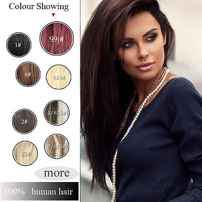 """NEW 16""""-24""""Invisible halo 100% Remy Hair Extension Wire Remy Extension one piece"""