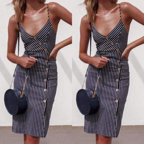 BOHO Womens Ladies Summer Beach Midi Dress Holiday Sun Dress Party Casual Skirts