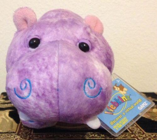 Webkinz Hippie Hippo with Unused Code Rare