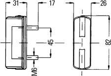 HELLA 2KA 003 389-081 Kennzeichenleuchte Kennzeichenlicht Anbau oberhalb oder links//rechts P21W