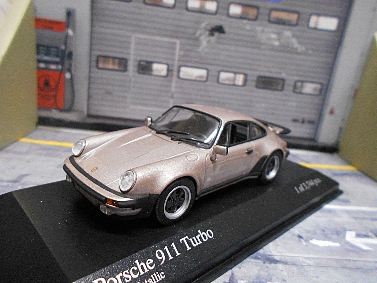 contador genuino Porsche 911 turbo 930 1977 3.0 platino gris gris gris gris met Minichamps rareza 1 43  mejor vendido