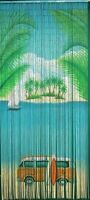 Natural Bamboo Beaded Curtain Vw Bus Surf Beads Window Doors Room Divider