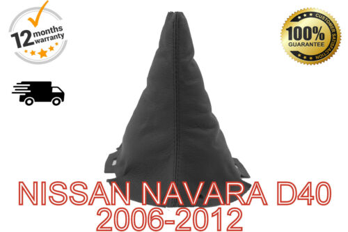 FITS NISSAN NAVARA D40 2006-2012 GENUINE LEATHER GEAR SHIFT BOOT GAITER COVER