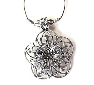Bohemian-Pendant-Tibetan-Silver-Colour-Jewellery-Carved-Metal-Flower-Boho-Style