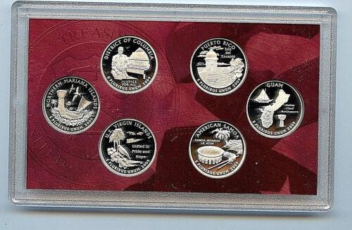 2009 S State US Territory Silver Quarter OGP /& COA BU Proof 6 Coin US Mint Set