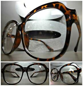 OVERSIZE VINTAGE RETRO Style Clear Lens EYE GLASSES Thick Large Tortoise Frame