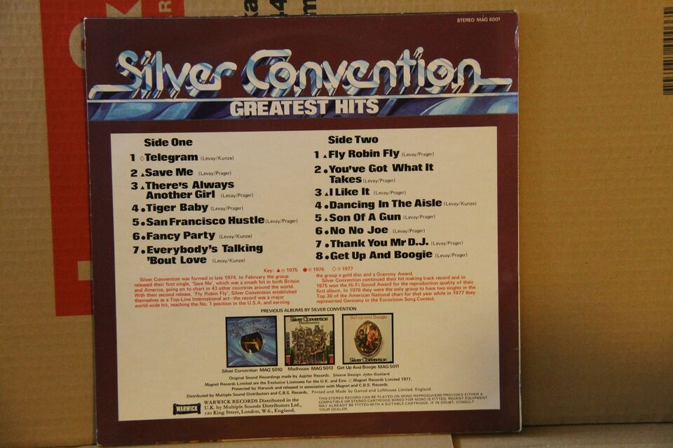 LP, Silver Convention, Greatest Hits