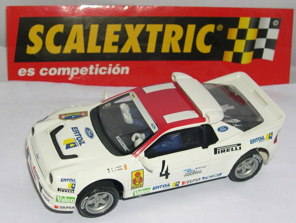 Qq SCALEXTRIC SPAIN PIANETA RALLY MITICHE FORD RS 200  4 ZANINI LIMITED EDITION
