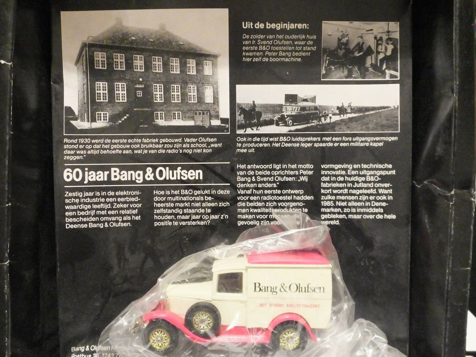 Matchbox Yesteryear Y21 Model A Ford Van Bang & Olufsen Code 2 Model - RARE