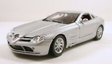 "Motor Max Mercedes Benz SLR McLaren 1:24 scale 7.5"" diecast model Silver M65"