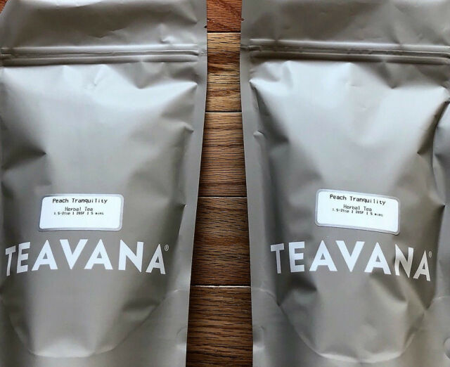 NEW! RARE! 1 Pound Teavana 🍑🍊🍑 Peach Tranquility🌈Herbal Factory Sealed  Tea ☕