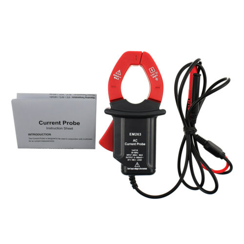 CAT III AC Current Probe Multimeter Electric Test Safety Connect Max 600A Input