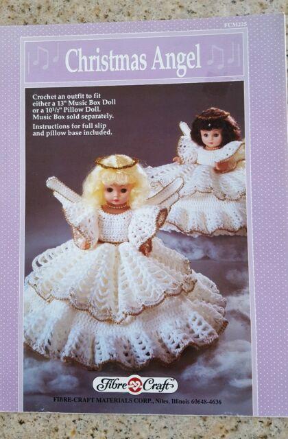 Fcm225 Fibre Craft Crochet Christmas Angel Pillow Doll Pattern Ebay