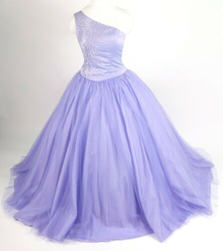 Forever Yours Beaded Lavender Tulle Ball Gown Prom