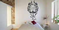 Wall Room Decor Art Vinyl Sticker Mural Decal Tribal Animal Flame Wolf FI574