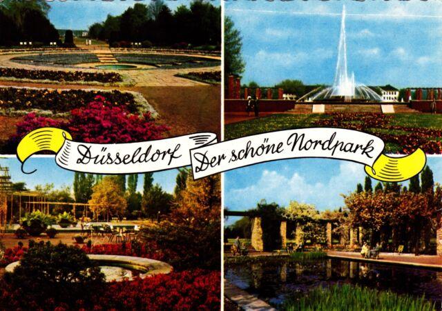Düsseldorf , Der schöne Nordpark , Ansichtskarte