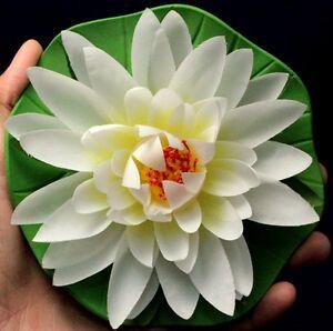 """1 Pièces. 5.5"""" Artificiel Lotus Fleurs Blanches Flotteur Home Spa Piscine Tissu Unbranded-afficher Le Titre D'origine Technologies SophistiquéEs"""