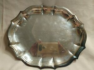 Chippendale-International-Silver-Company-Plate-6342-Dish-Serving-Platter-Vintage