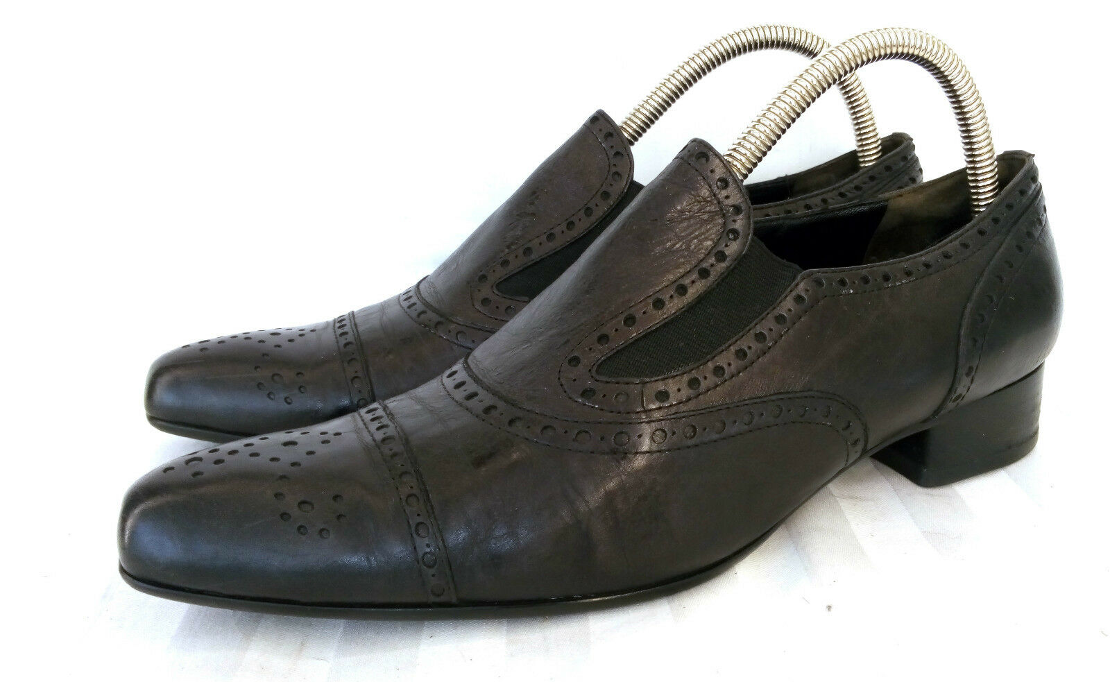 Kennel und Schmenger Brogue Loafer Slipper Damenschuhe Schwarz Leder UK 6 Gr. 39