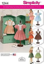 SIMPLICITY SEWING PATTERN VINTAGE PARTY & PLAYTIME 18 INCH DOLL CLOTHES 1244