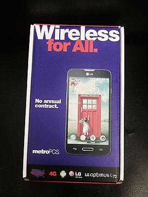 LG Optimus L70 MS323 - 4GB - Black (MetroPCS) Smartphone UNLOCKED