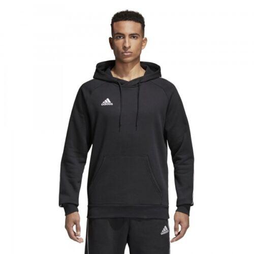 Adidas Core 18 Herren Hoody Kapuzen Sweatshirt Fußball Pullover Schwarz Neu
