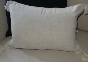 CHENILLE-40-X-55-CUSHION-COVER-BEIGE-COSY-WARM-AND-VERY-SOFT-TO-TOUCH