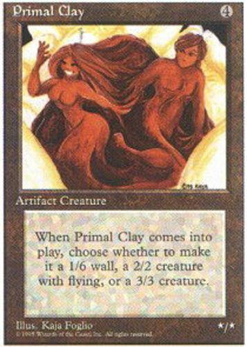 4 Primal Clay ~ Near Mint 4th Edition Fourth 4x x4 Playset UltimateMTG Magic Art