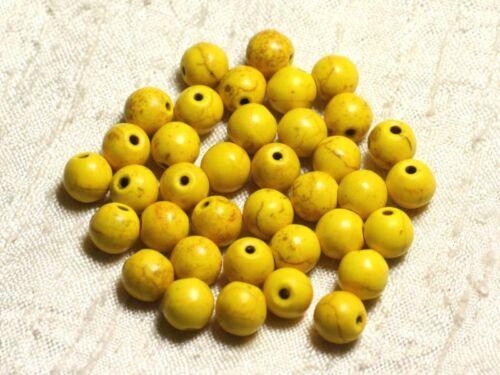 Fil 39cm 48pc env Perles de Pierre Turquoise Synthèse Reconstituée Boules 8mm