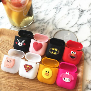 big sale cde23 51958 Details about New Cute Cartoon AirPods Silicone Case Cover for Apple Airpod  Charging Case