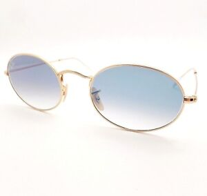 846e63caffe Ray Ban 3547 N 001/3F Gold Flat Blue Fade New Sunglasses Authentic ...