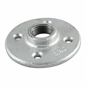 3-4-034-GALVANIZED-MALLEABLE-IRON-FLOOR-FLANGE-fitting-pipe-npt-LOT-OF-10