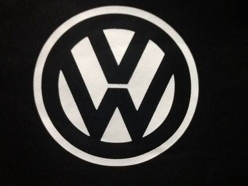 VW CRAFTER VAN 2+1 SEAT COVER FABRIC CLOTH BLACK DRIVERS SIDE VW LOGO